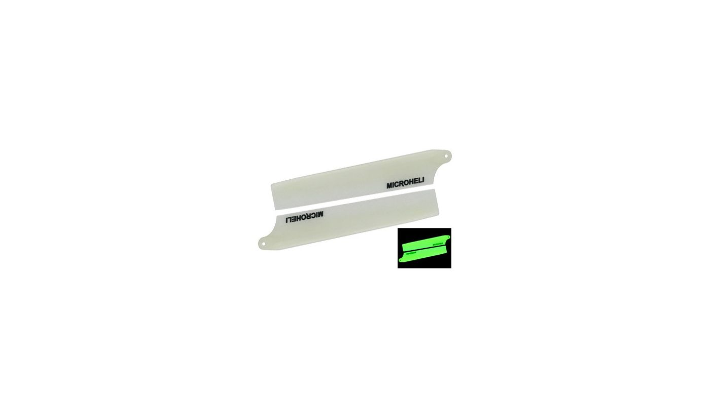Image for Long Glow Plastic Main Blade 94mm, White: Blade Nano CP X from HorizonHobby