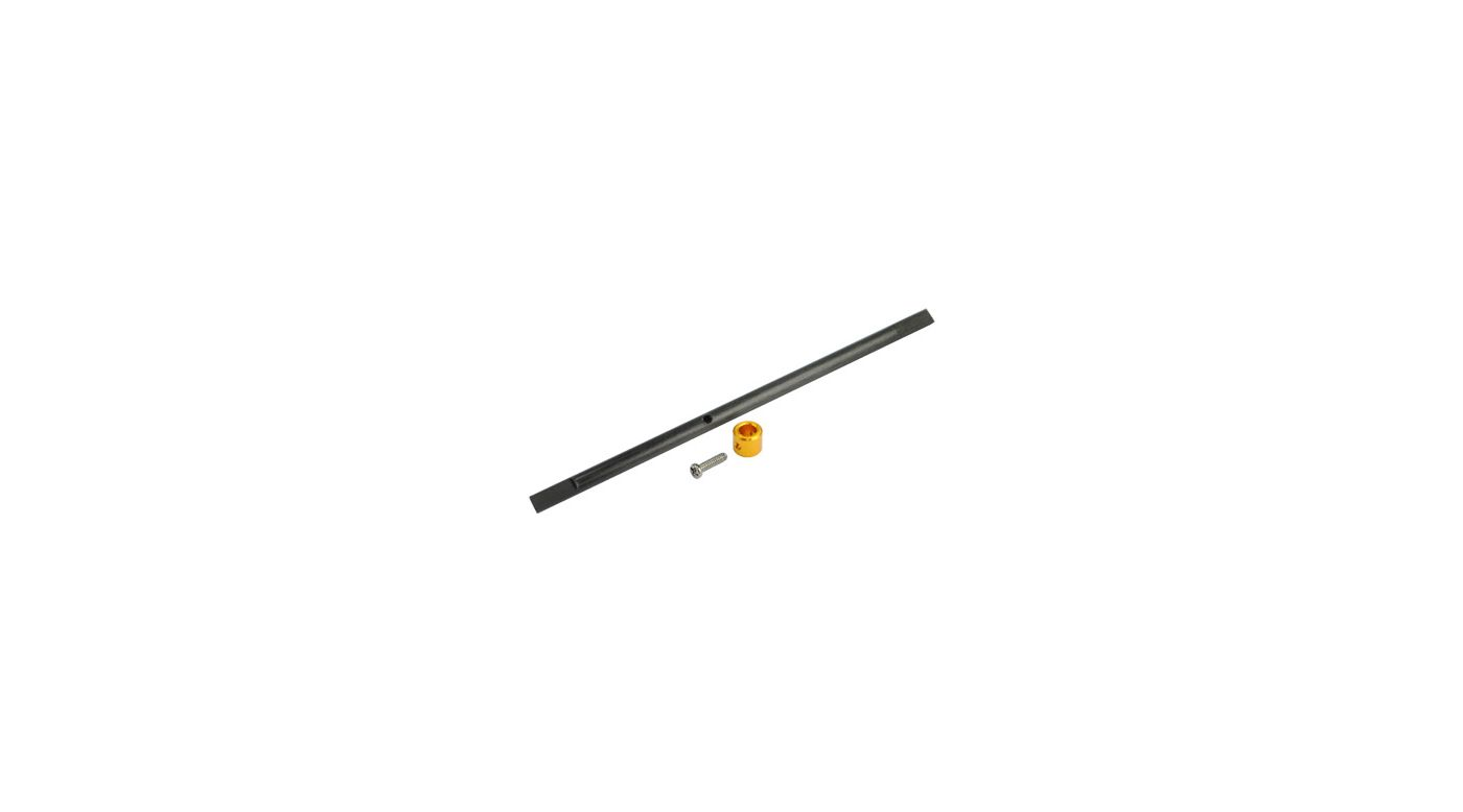 Image for CNC Solid Carbon Main Shaft/Collar Set, Gold: Blade Nano CP X from HorizonHobby
