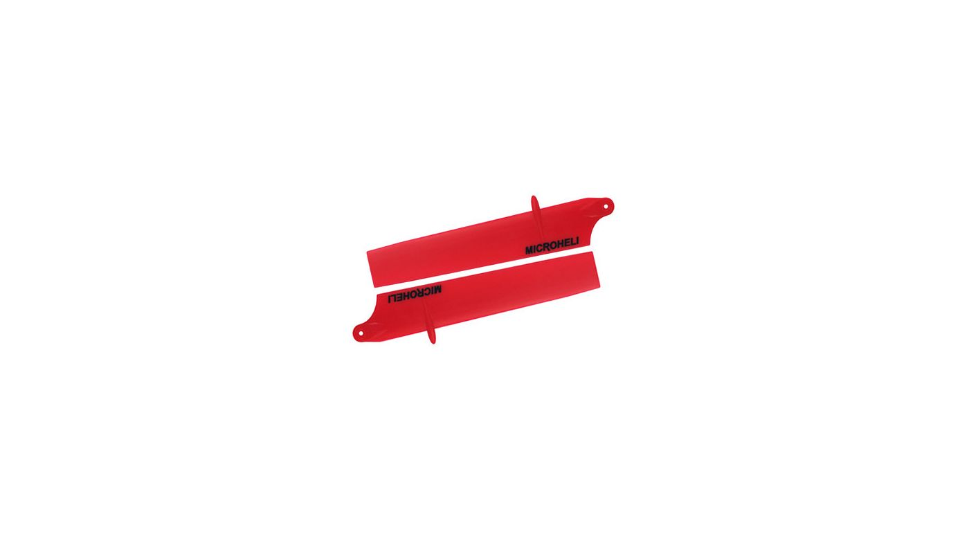 Image for Bullet Plastic Main Blade 85mm, Red: Blade Nano CP X from HorizonHobby