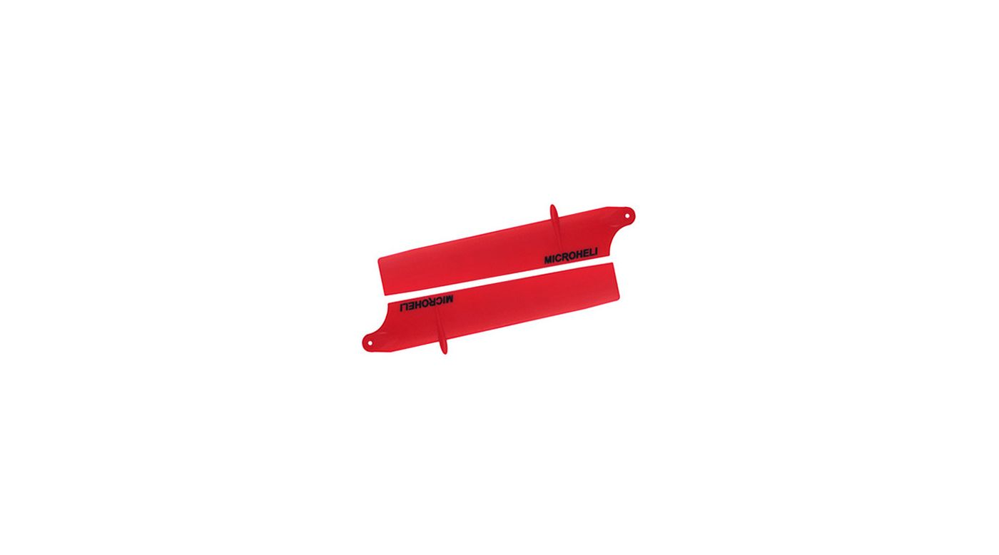 Image for Long Bullet Plastic Main Blade 94mm, Red: Blade Nano CP X from HorizonHobby