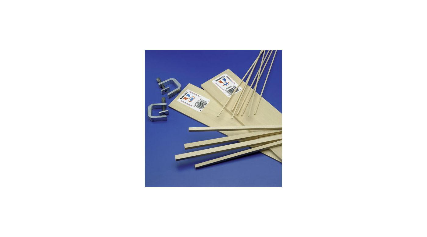 Image for Basswood Sheets 3/16x4x24 (10) from HorizonHobby