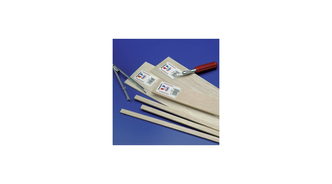 Image for Balsa Strips 1/4 x 1/4 x 36 (20) from HorizonHobby