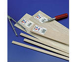 Midwest Products Co. - Balsa Strips 3/8 x 3/8 x 36 (12)