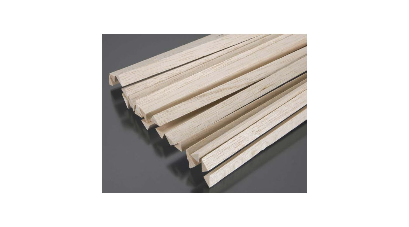 Image for Balsa Triangular Stock 1/2 x 36 (20) from HorizonHobby