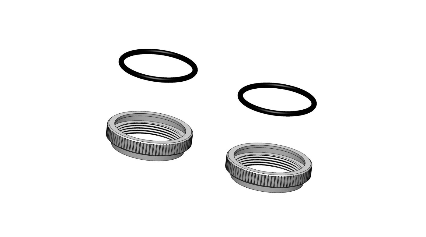 Image for 1/5 32mm Big Bore Spring Adjustment Nut (2): 5IVE-T from HorizonHobby