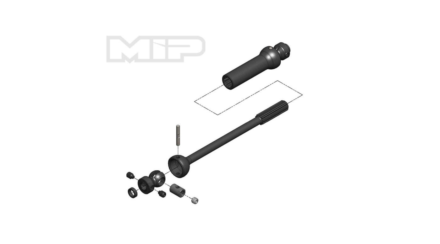 Image for Center Drive Kit Single Shaft 140mm - 165mm with 5mm Hubs from HorizonHobby