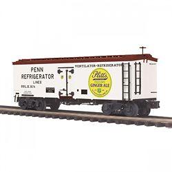 MTH 20-94435 O 36' Woodsided Reefer Car Plitt's Ginger Ale #3674