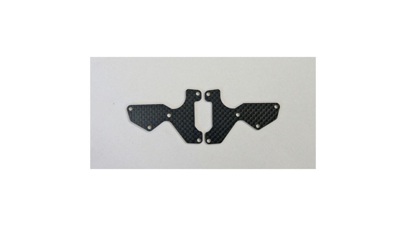 Image for Graphite 1.2mm Front Lower Suspension Arm Mount Plate (2): X8 from HorizonHobby