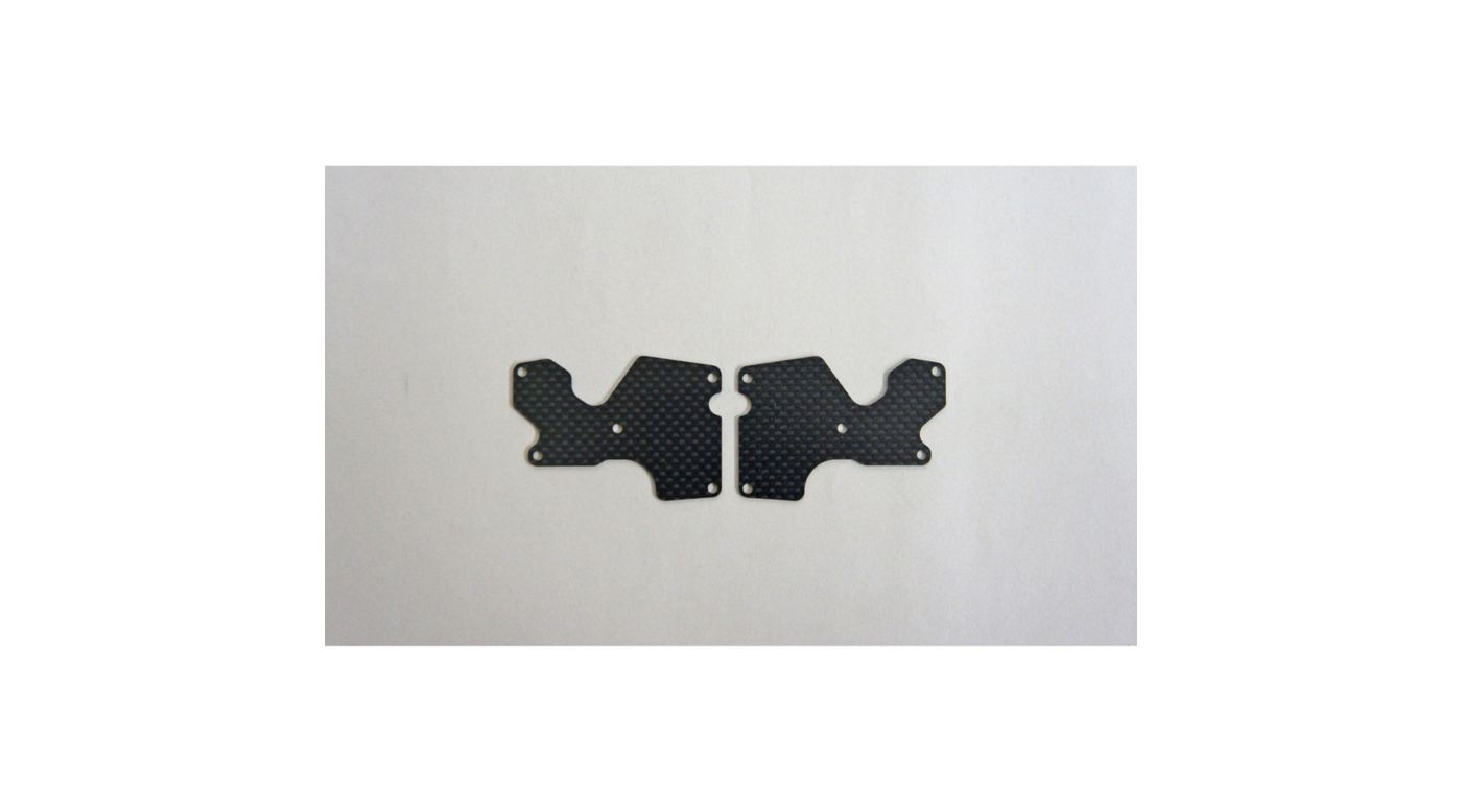 Image for Graphite 1mm Rear Lower Suspension Arm Mount Plate (2): X8 from HorizonHobby
