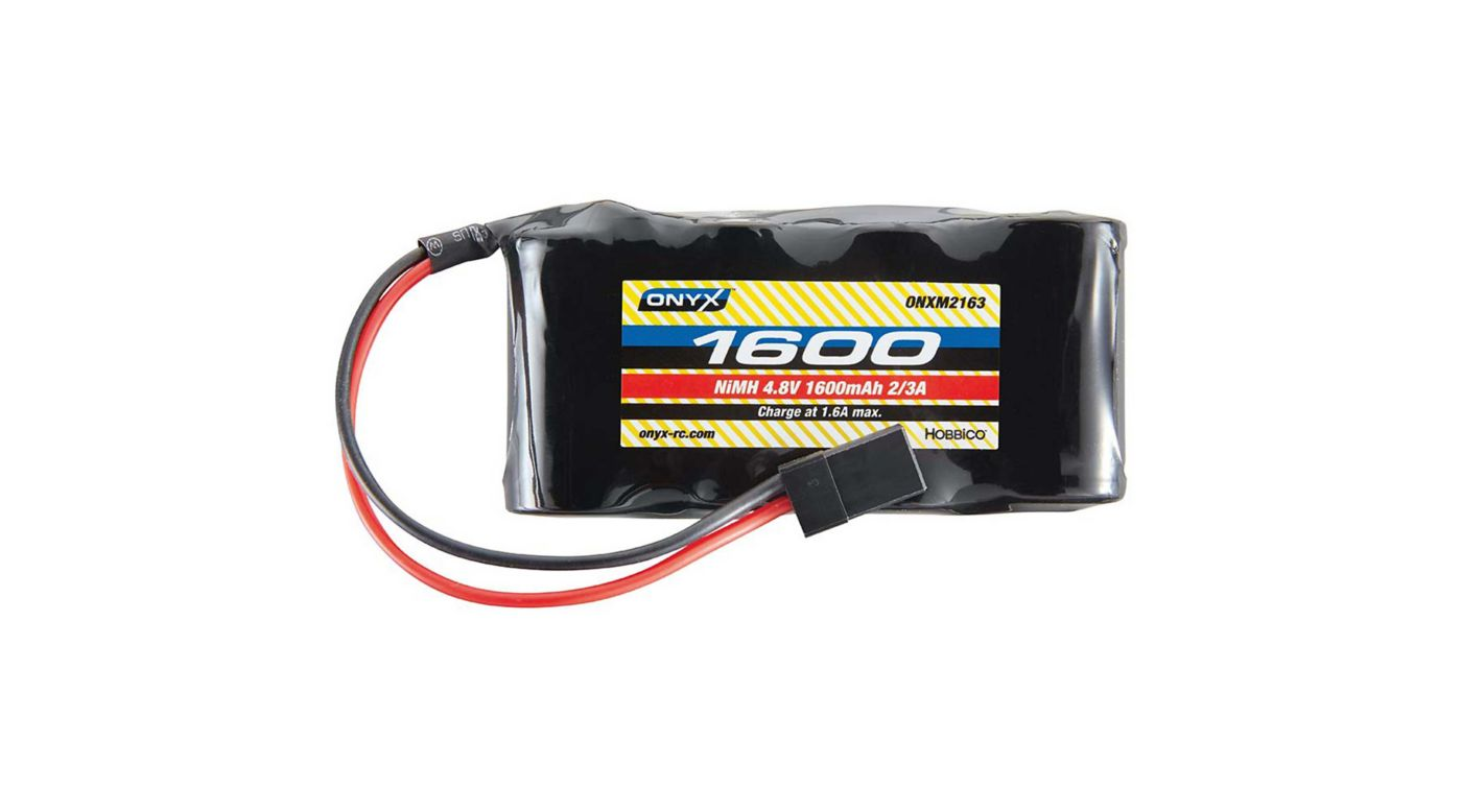 Image for 4.8V 1600mAh NiMH 2/3A Flat Receiver Universal Plg from HorizonHobby