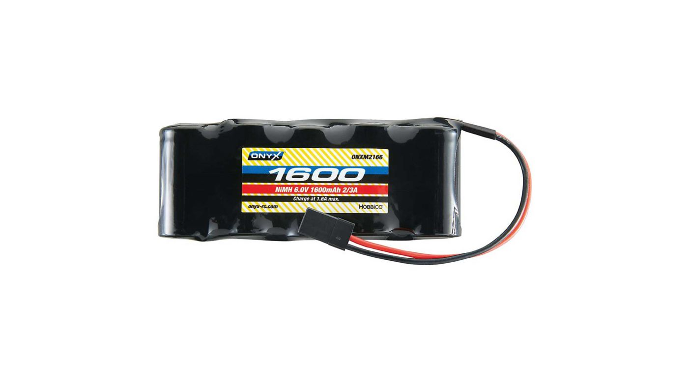 Image for 6.0V 1600mAh NiMH 2/3A Flat Receiver Battery: Universal Receiver from HorizonHobby