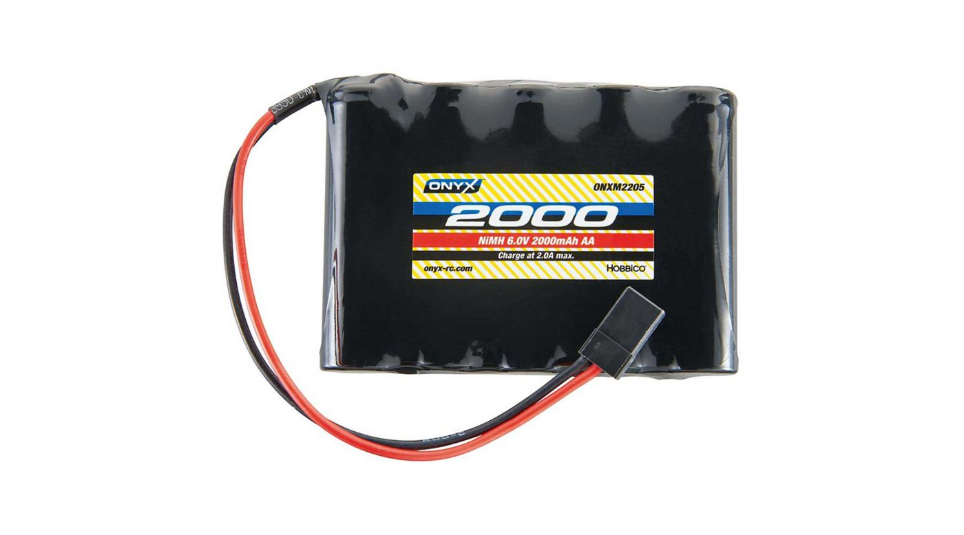 Image for 6.0V 2000mAh AA NiMH Flat Receiver Battery: Universal Receiver from HorizonHobby