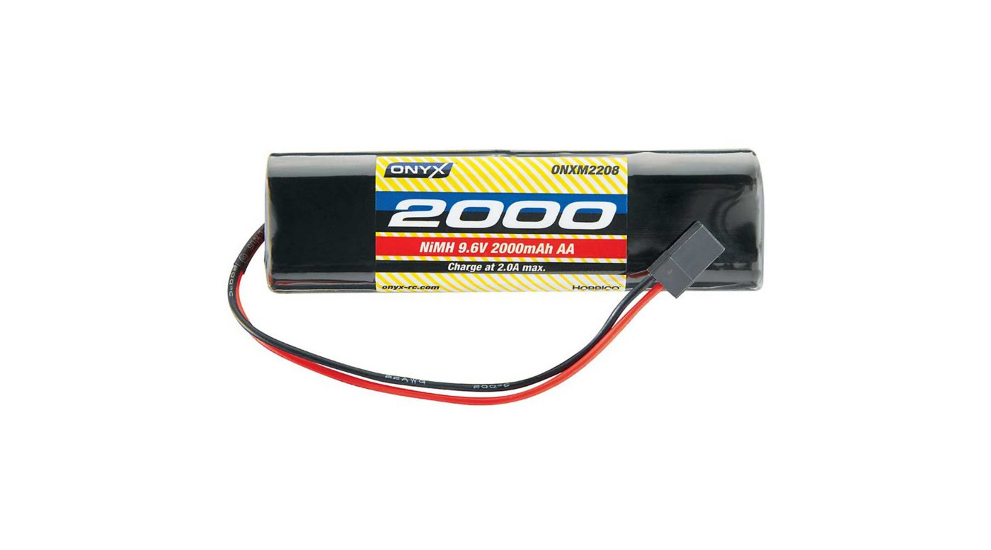 Image for 9.6V 2000mAh AA NiMH Square Transmitter Battery: Universal Receiver from HorizonHobby