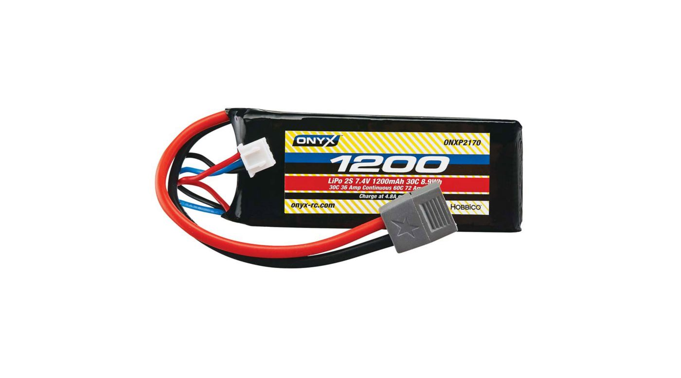 Image for 7.4V 1200mAh 2S 30C LiPo: Star Plug from HorizonHobby
