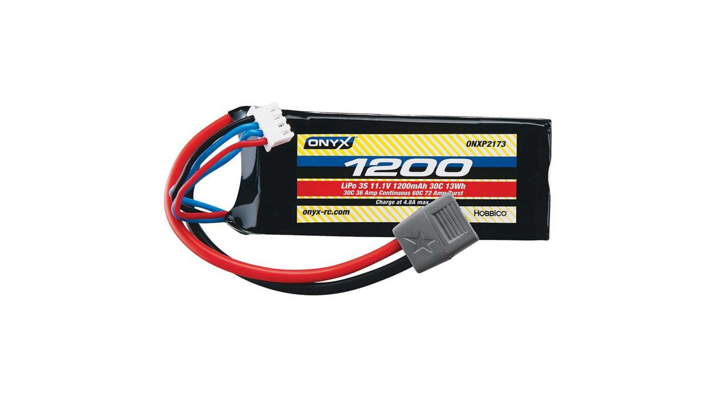 Image for 11.1V 1200mAh 3S 30C LiPo Battery: Star Plug from HorizonHobby