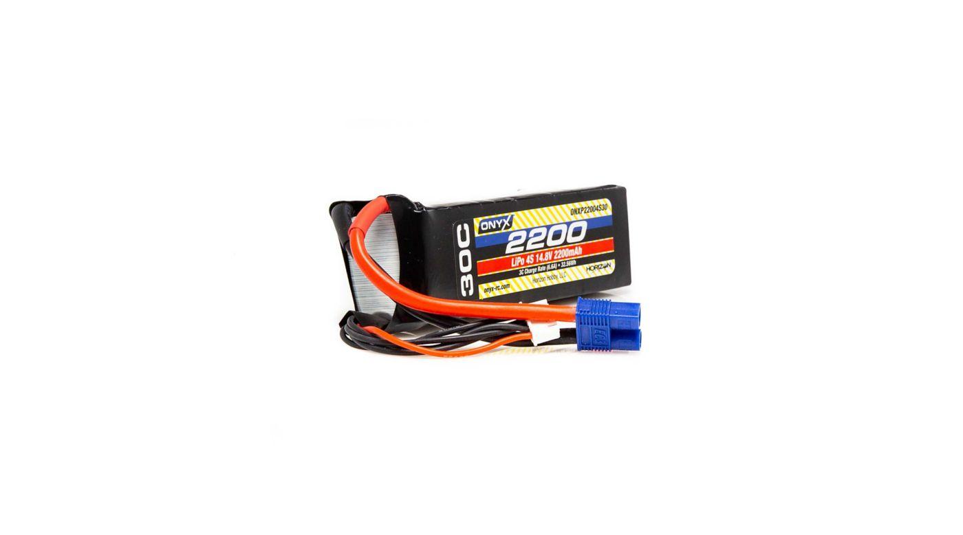 Image for 14.8V 2200mAh 4S 30C LiPo Battery, EC3 from HorizonHobby