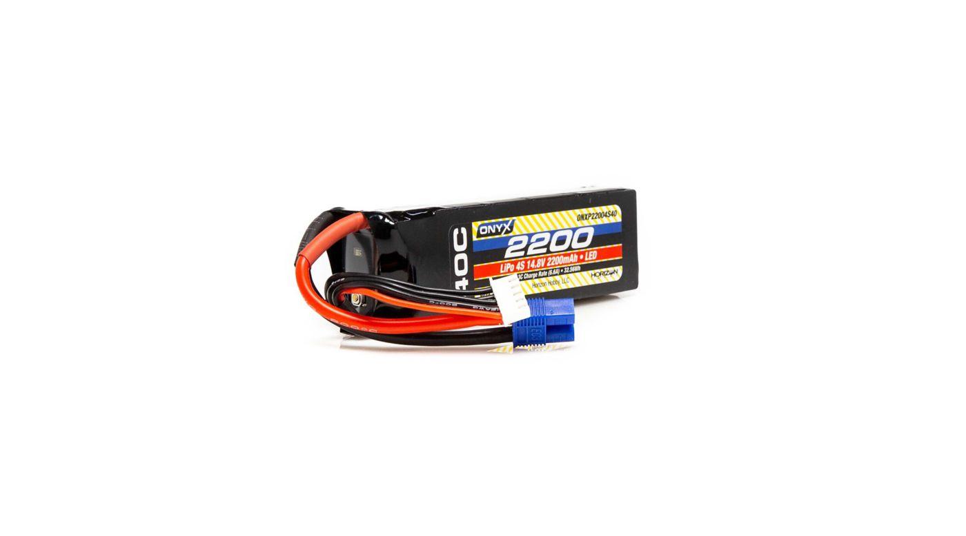 Image for 14.8V 2200mAh 4S 40C LiPo Battery: EC3 from HorizonHobby