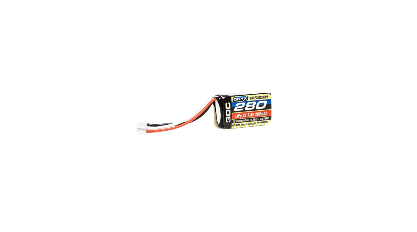 Image for 7.4V 280mAh 2S 30C LiPo Battery: PH from HorizonHobby