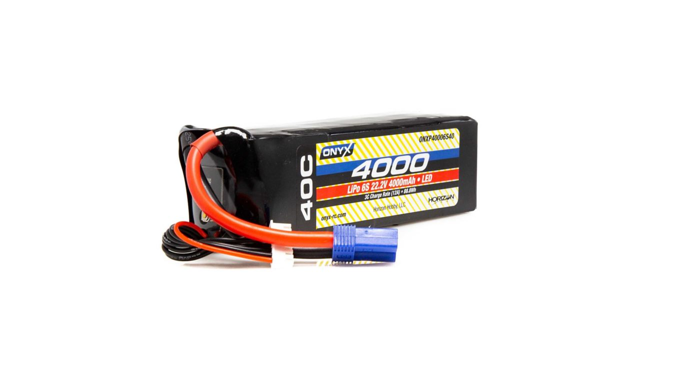 Image for 22.2V 4000mAh 6S 40C LiPo Battery: EC5 from HorizonHobby