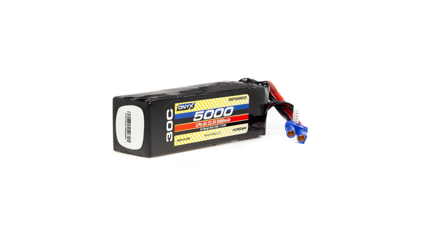 Image for 22.2V 5000mAh 6S 30C LiPo Battery: EC5 from HorizonHobby
