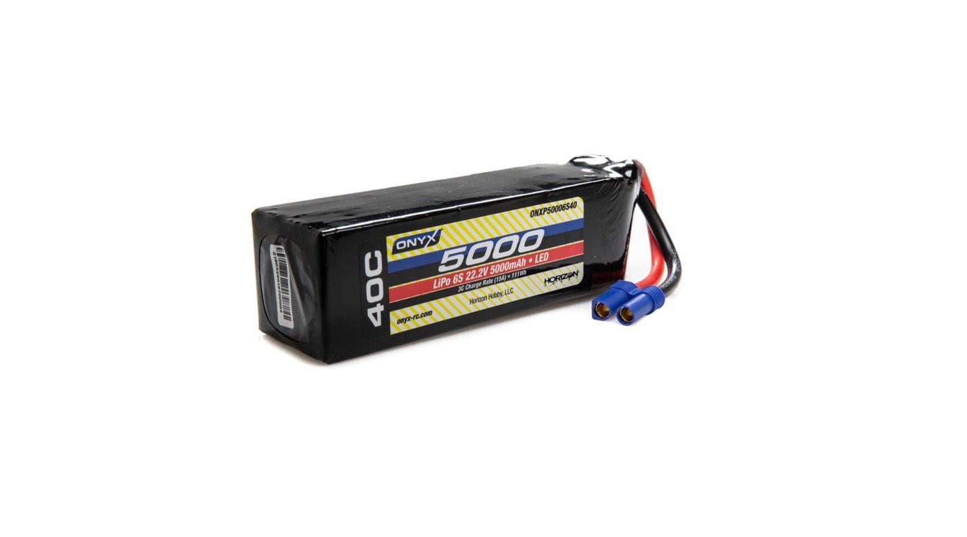 Image for 22.2V 5000mAh 6S 40C LiPo Battery: EC5 from HorizonHobby