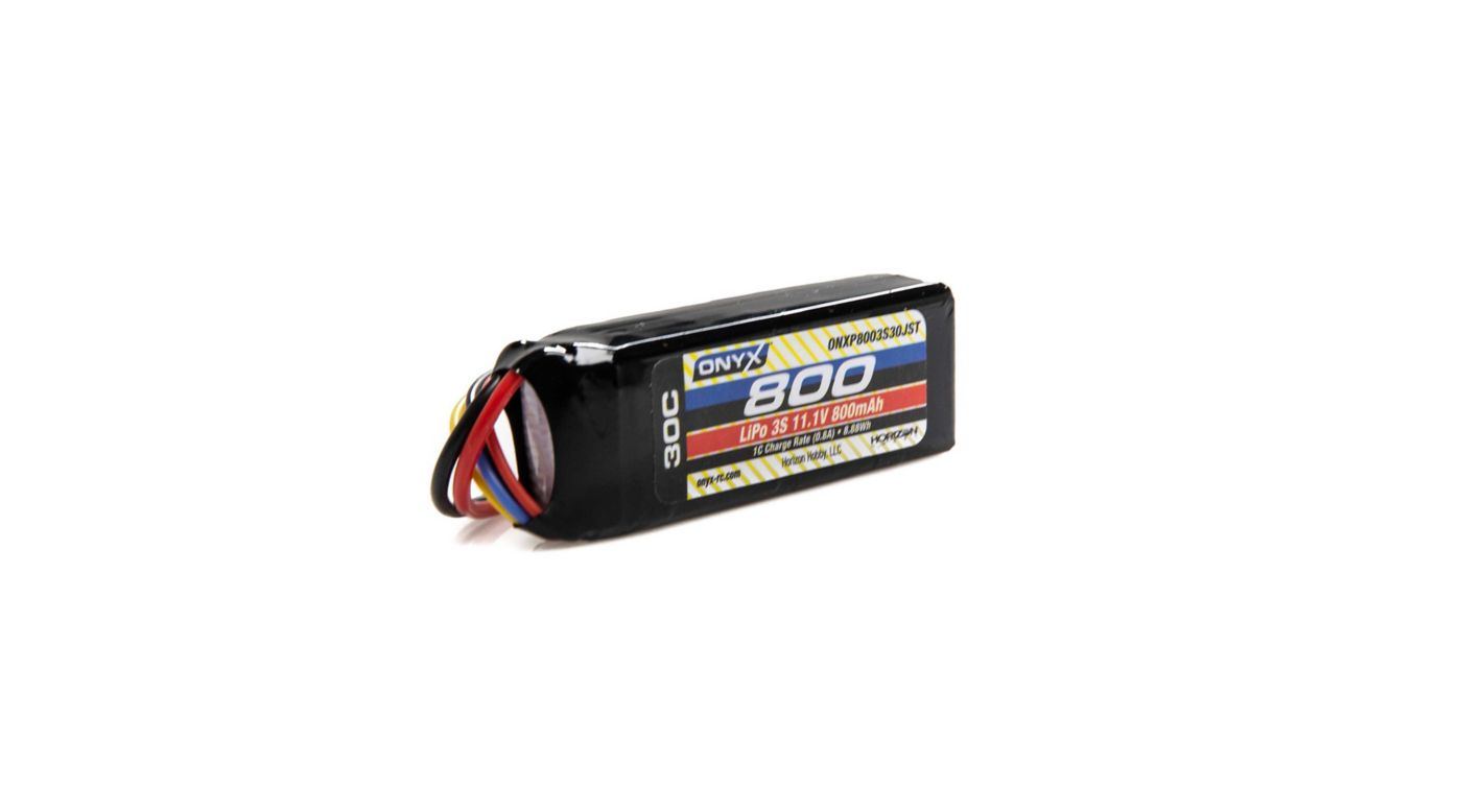 Image for 11.1V 800mAh 3S 30C LiPo Battery: JST from HorizonHobby