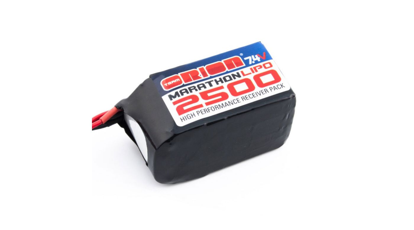 Image for Marathon Receiver Pack 7.4V 2500mAh LiPo, Hump: Universal from HorizonHobby