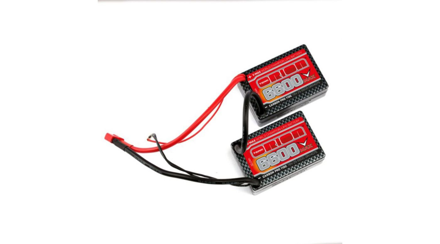 Image for Carbon Pro V-Max 7.6V 6600mAh 110C 2S LiPo, Saddle, Deans from HorizonHobby