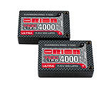 Team Orion USA - Carbon Pro Ultra 7.4V 4000mAh 110C 2S LiPo, XS 18.5mm Saddle, Tubes