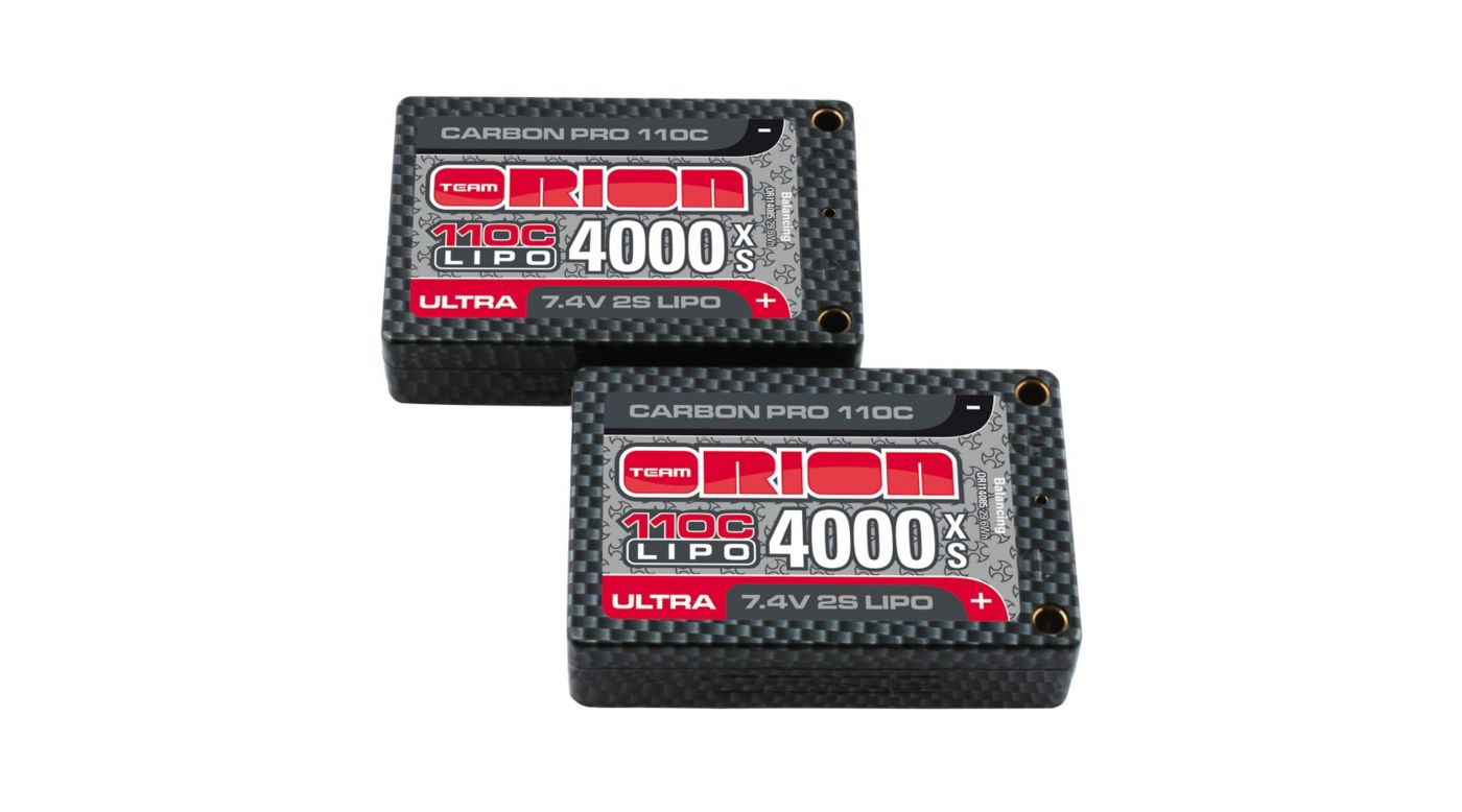 Image for Carbon Pro Ultra 7.4V 4000mAh 110C 2S LiPo, XS 18.5mm Saddle, Tubes from HorizonHobby
