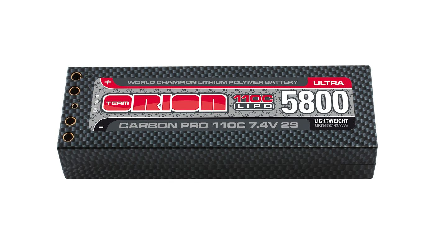 Image for Carbon Pro Ultra 7.4V 5800mAh 110C 2S LiPo, Lightweight, Tubes from HorizonHobby