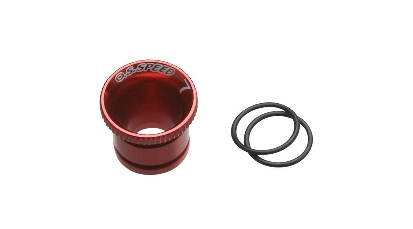 Image for Carburetor Reducer 7mm, Red: Speed 21 V-Spec from HorizonHobby