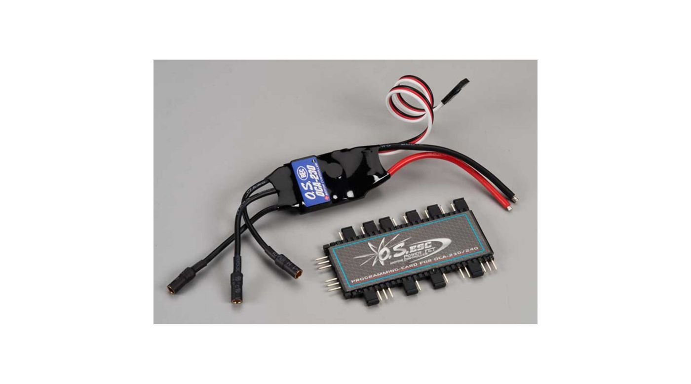 OCA-230 30A 25V ESC with OCP-2 Programming Card | HorizonHobby