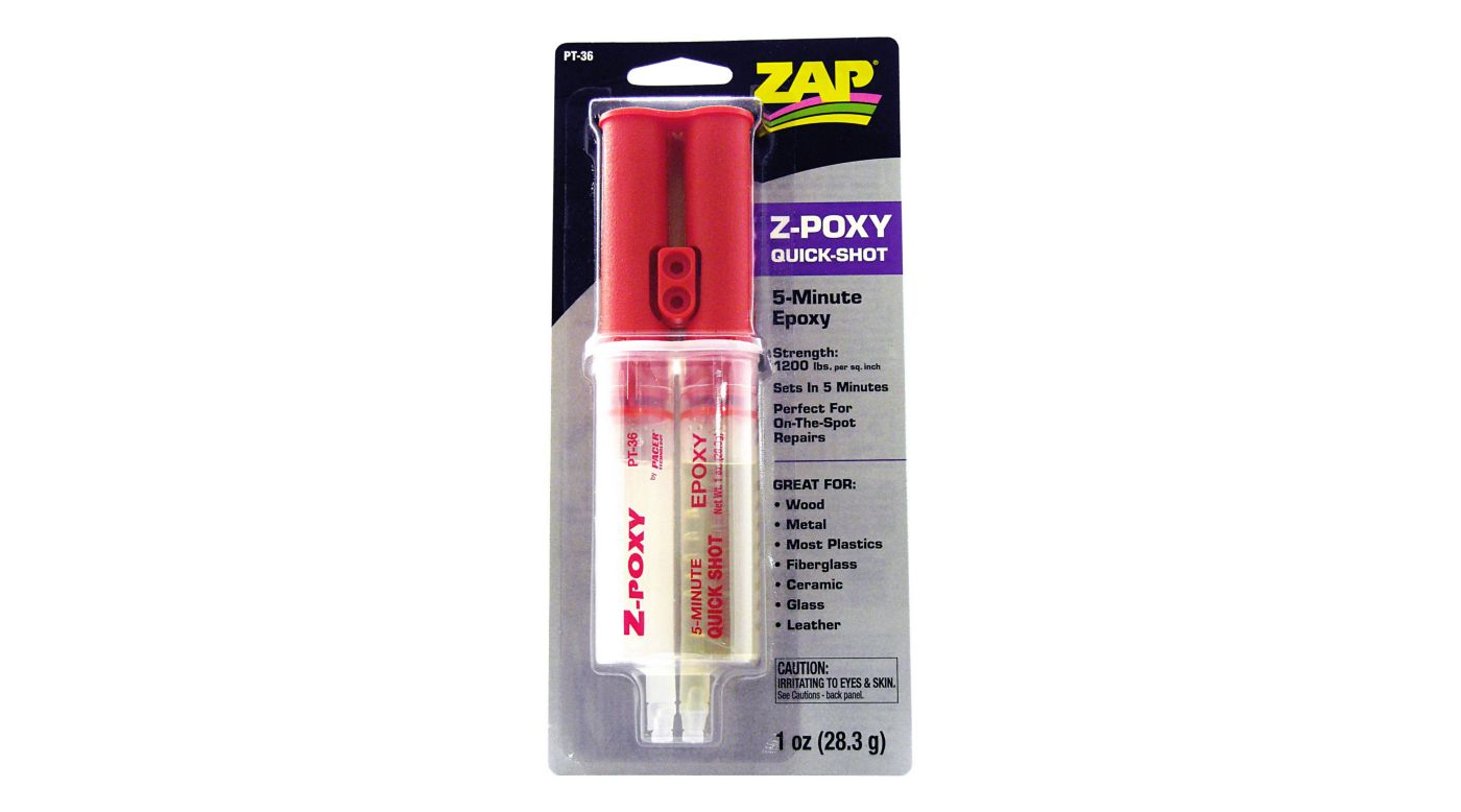 Image for Z-Poxy 5-Minute Quick Shot Epoxy, 1 oz from HorizonHobby
