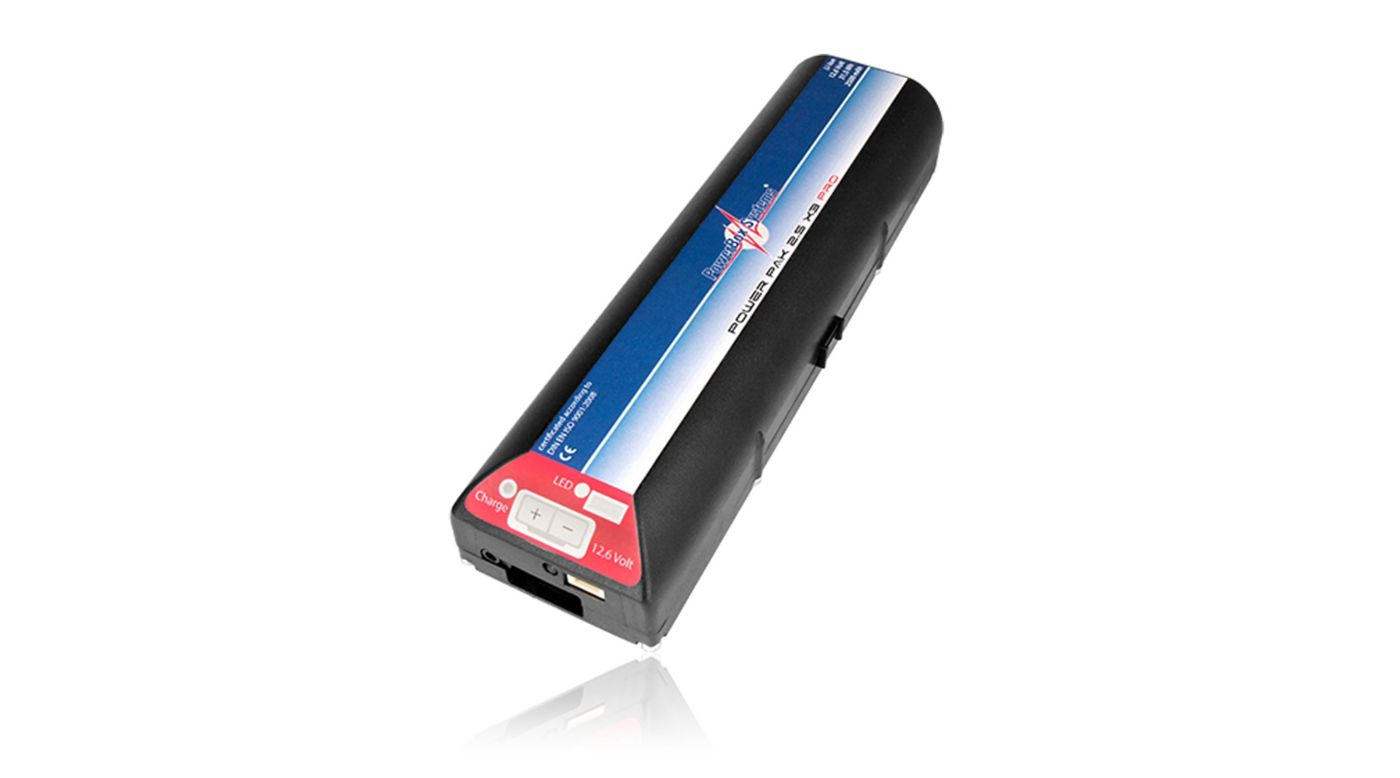 Image for PowerPak 2.5X3 2500mAh PRO Li-Ion Receiver Battery and Mount from HorizonHobby