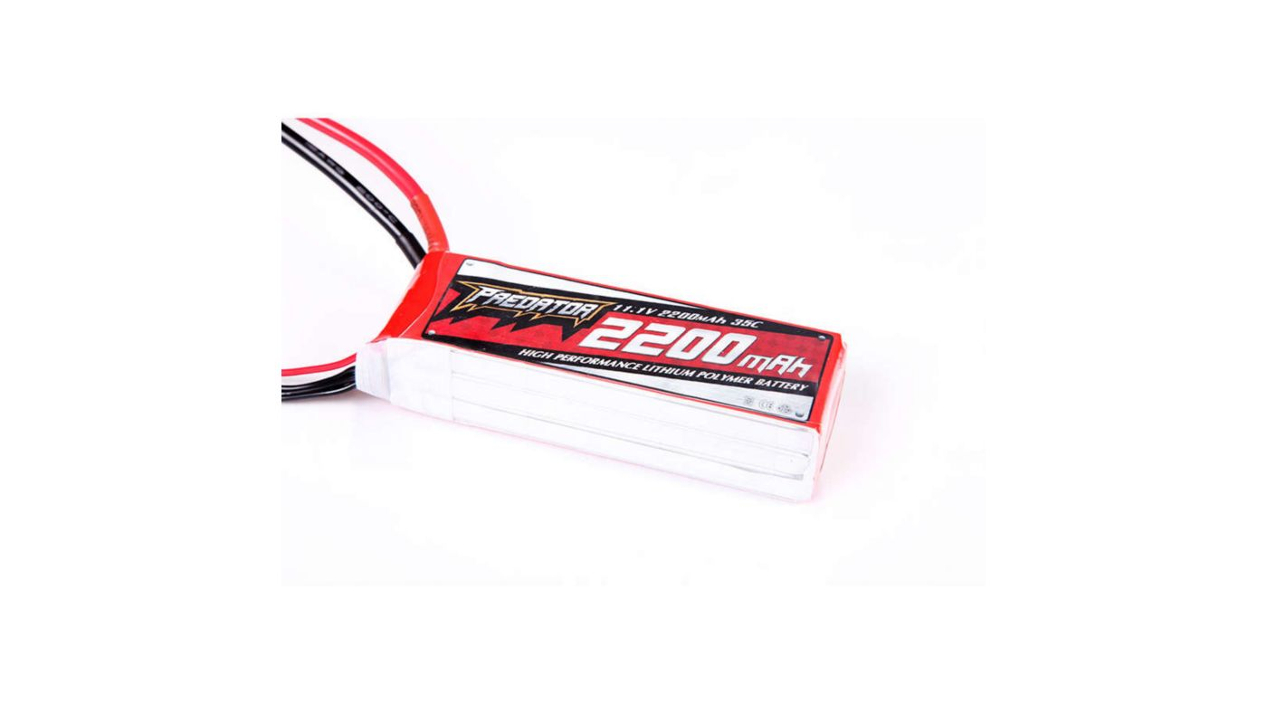 Image for 2200mAh 3S 11.1V 35C LiPo Battery: Deans from HorizonHobby