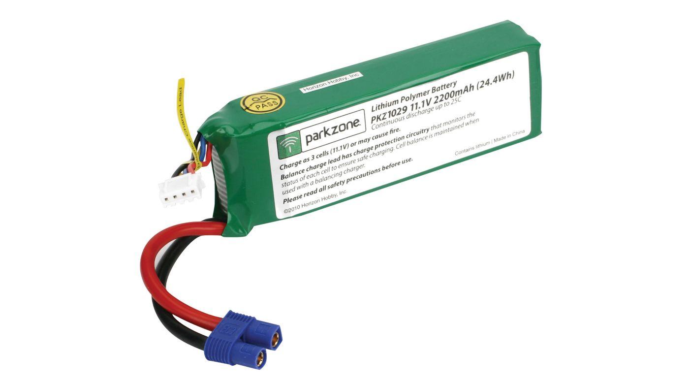 Image for 2200mAh 3S 11.1V 25C LiPo Battery: EC3 from HorizonHobby