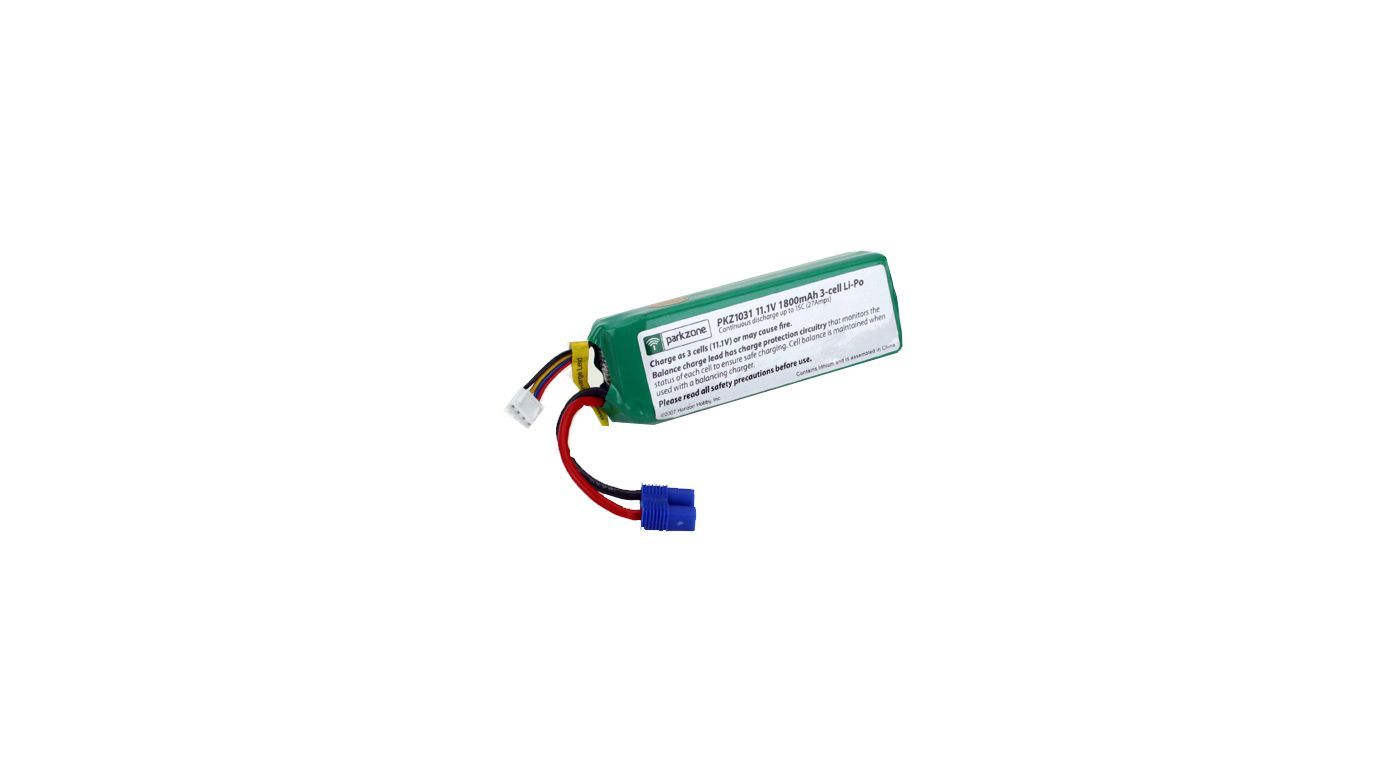 Image for 11.1V 1800mAh 3S LiPo Battery from HorizonHobby