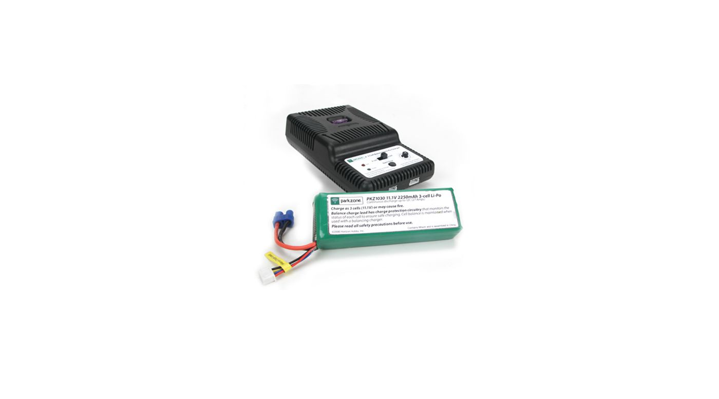 Image for 2200mAh 3S LiPo Battery with Charger from HorizonHobby