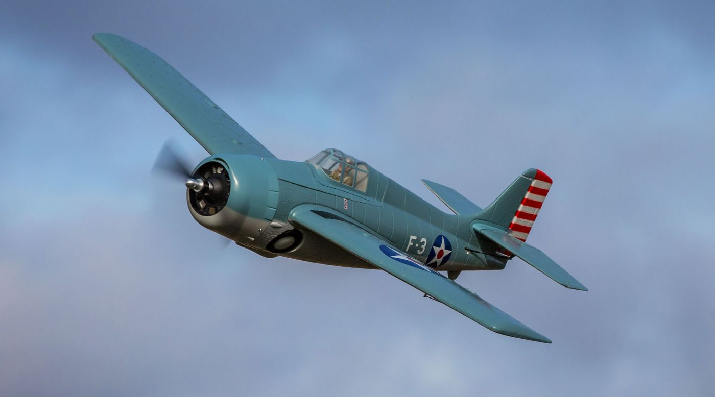 Image for F4F Wildcat 1.0m BNF Basic with AS3X and SAFE Select from HorizonHobby