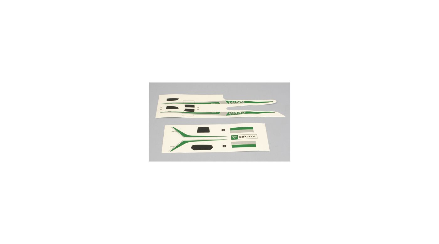 Image for Decal Set, Green/Silver: Cessna 210 Centurion from HorizonHobby