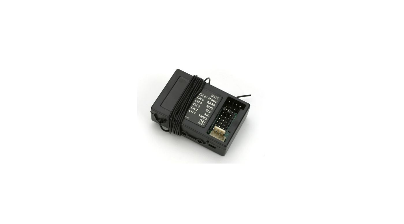 Image for RA627 Rx: CH 3, 27.095; J-3 BL, P-51D BL from HorizonHobby
