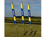 Premier RC - 6' FPV Slalom Race Gate Banner with Stakes: Horizon Logo
