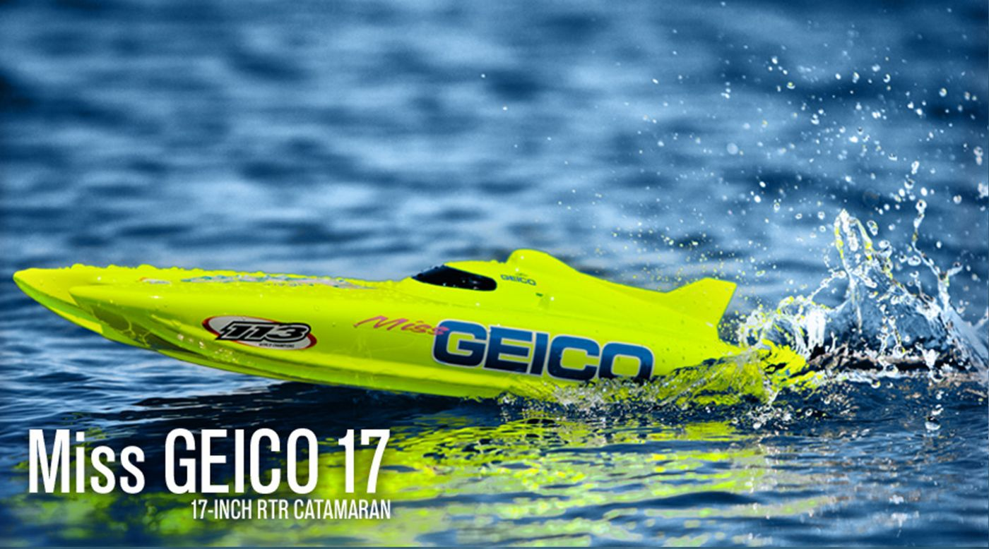 Image for Miss GEICO 17 2.4 Catamaran RTR from HorizonHobby