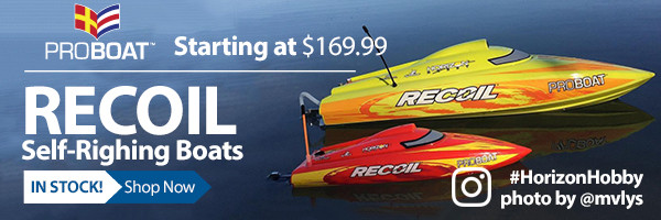 The Recoil 17 and Recoil 26 Deep-Vs makes pushing the limits of brushless boating easier than ever before with a revolutionary hull that will never leave you b up a creek without a paddleb .