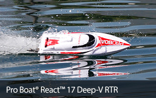 Pro Boat React 17 Self Righting Deep V Boat RTR Ready to Run