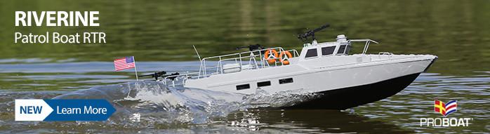 New! Pro Boat Riverine Patrol Boat 22-inch RTR