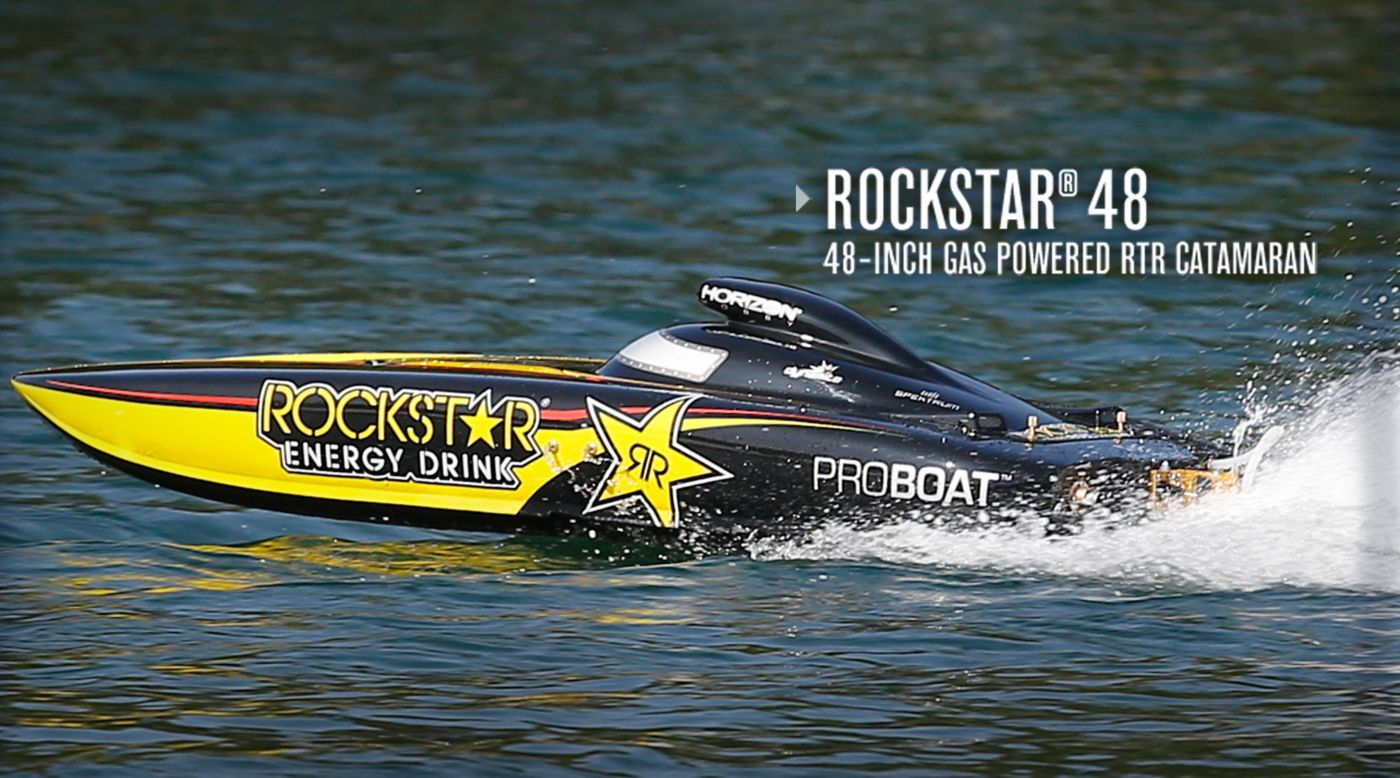 Pro Boat Rockstar 48 Inch Catamaran Gas Powered Catamaran Boat Rtr