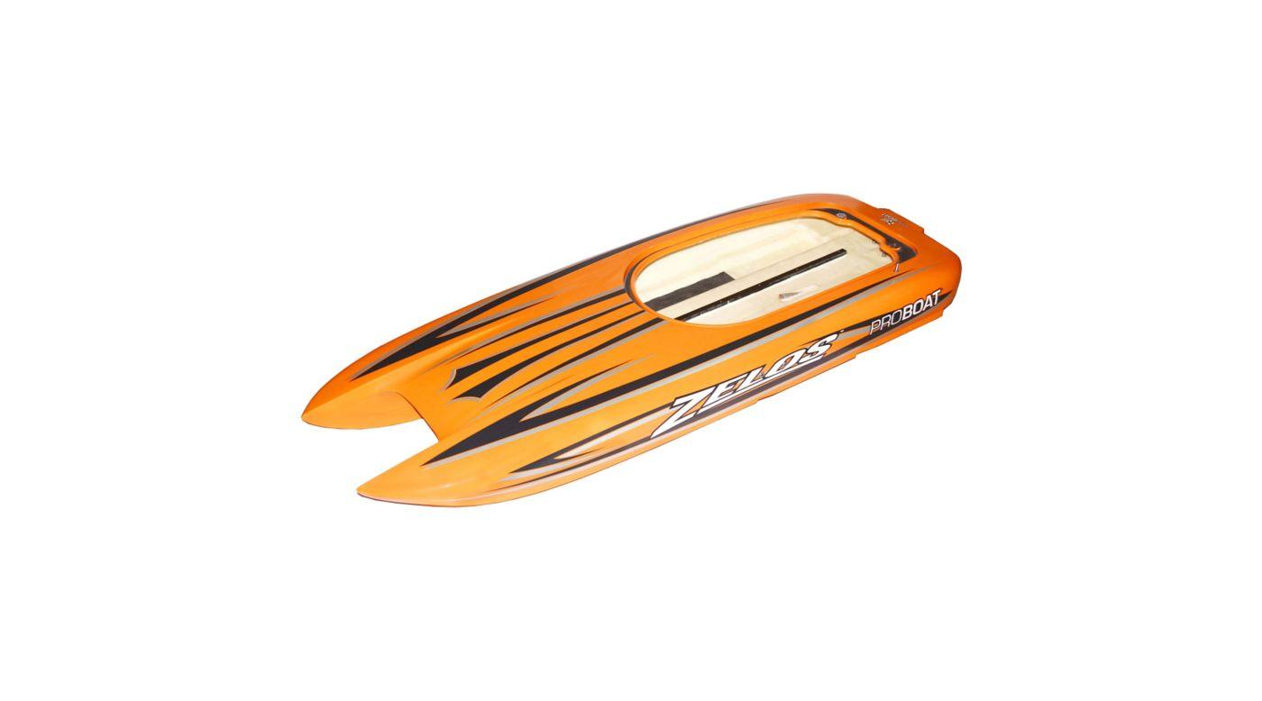 Grafik für Proboat Zelos 48-inch Catamaran BL: Rumpf und Dekorbogen in Horizon Hobby