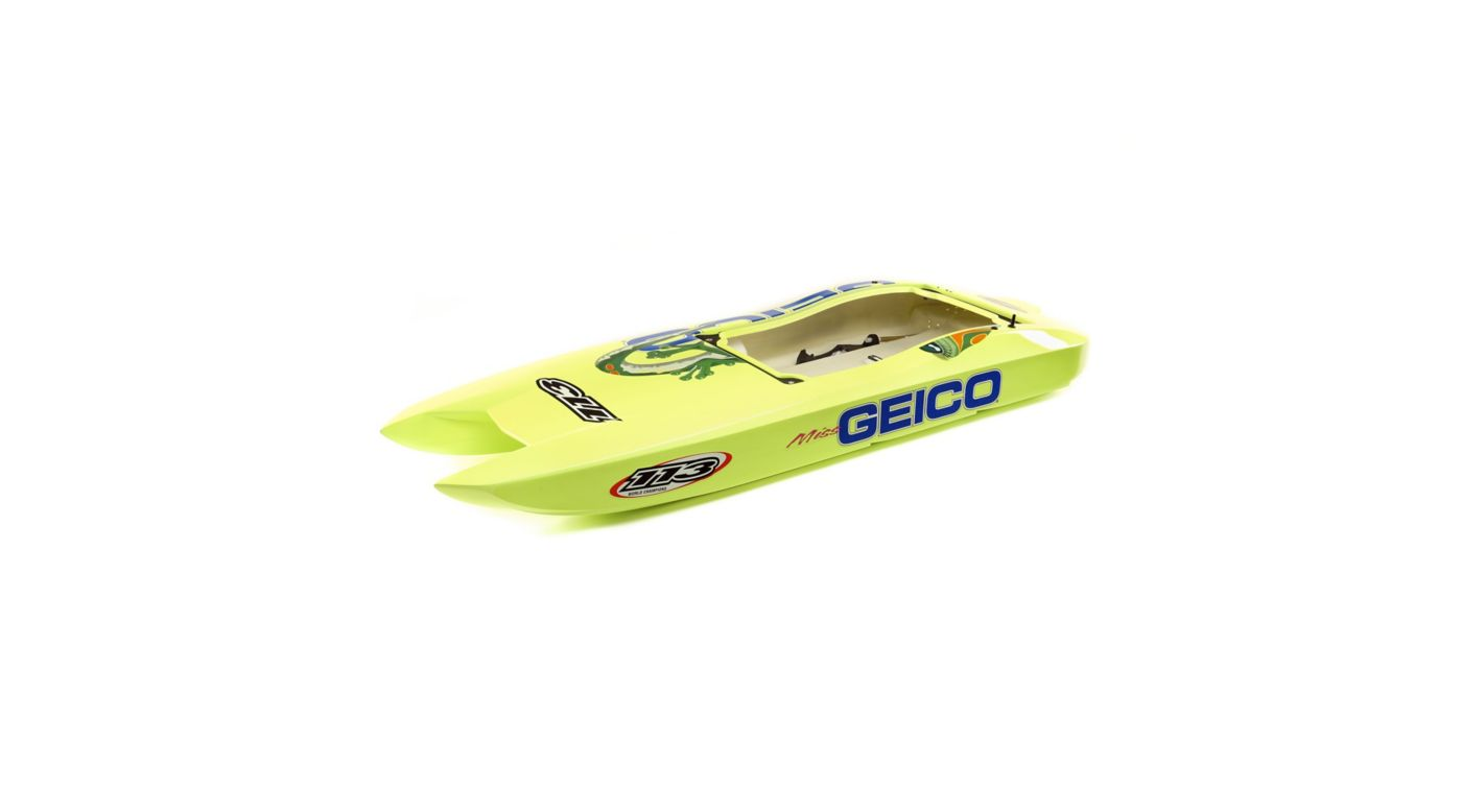Image for Hull with decals  Miss GEICO Zelos 36-inch Twin from HorizonHobby
